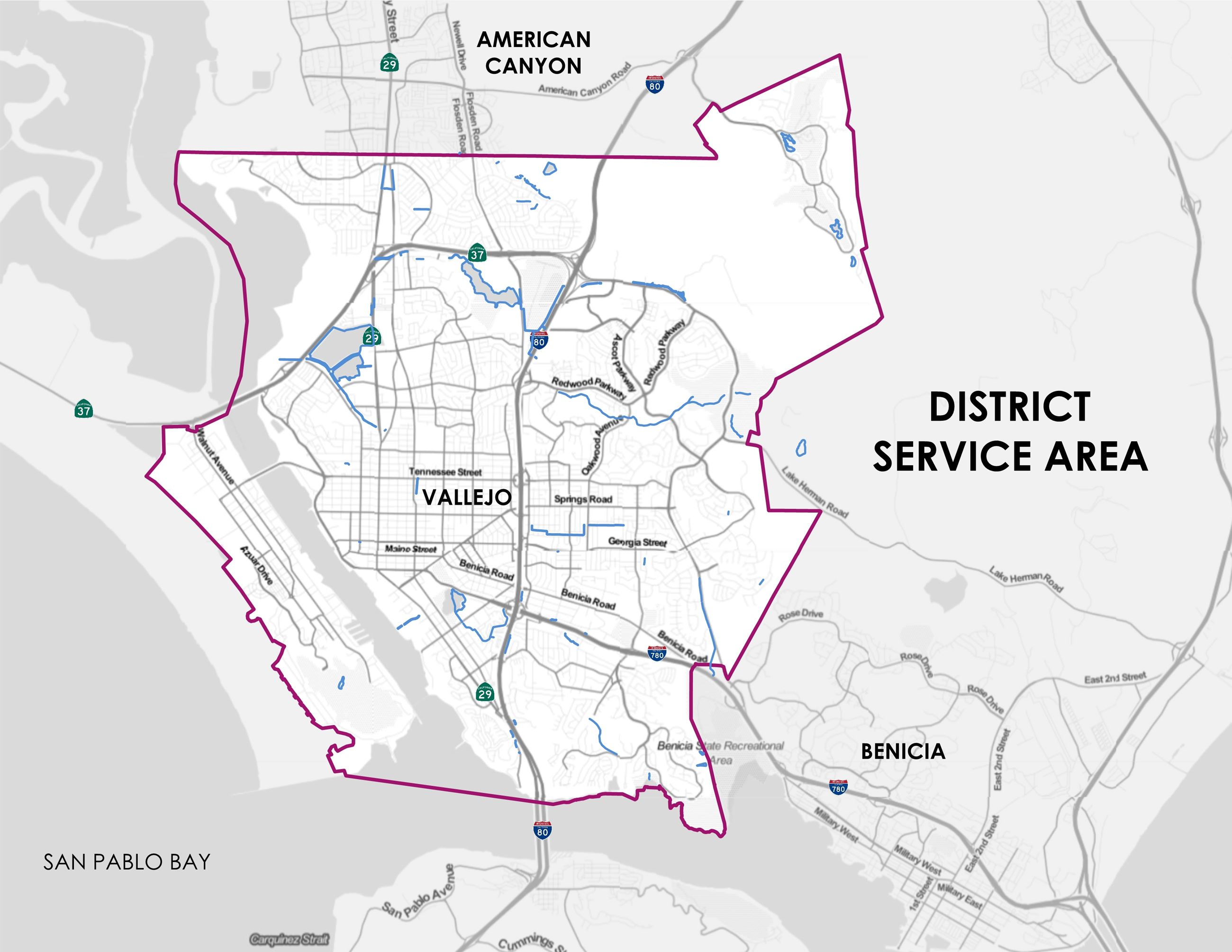 VSFCD District Service Area